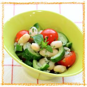 白いんげん豆のイタリアンサラダ
