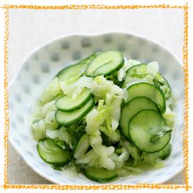 白菜ときゅうりの浅漬け