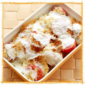 帆立のパン粉焼き トルコ風ソース