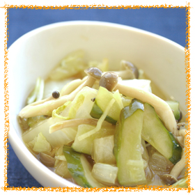 野菜の炒め漬け