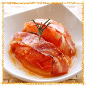 玉ねぎとトマトの重ね蒸し